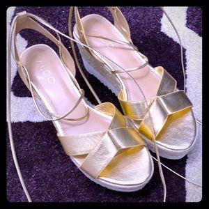 Platform lace up sandal